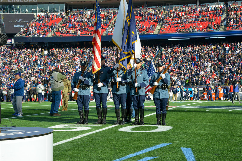 Honor Guard and Air Wing Fly Over