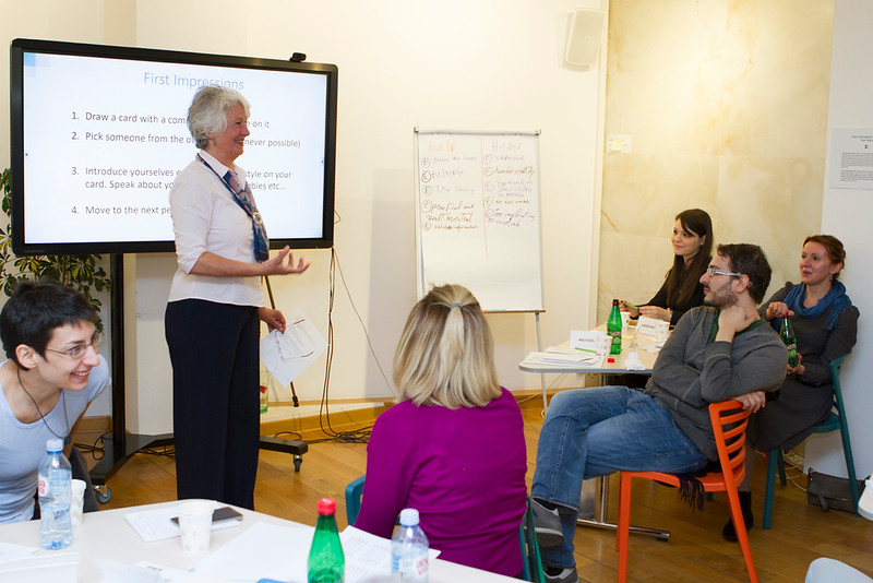 Dr Scott introducing the 'First impressions' exercise - Intercultural Communication Essentials workshop, Apr 2019