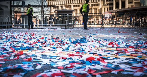 Confetti after the parade