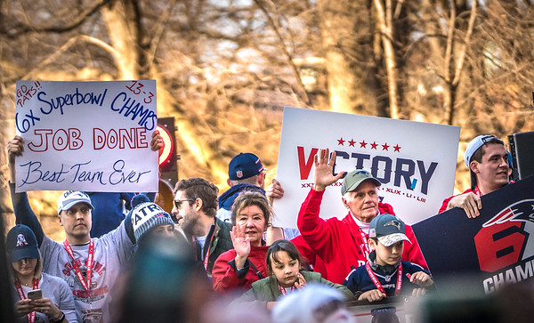 Victory signs