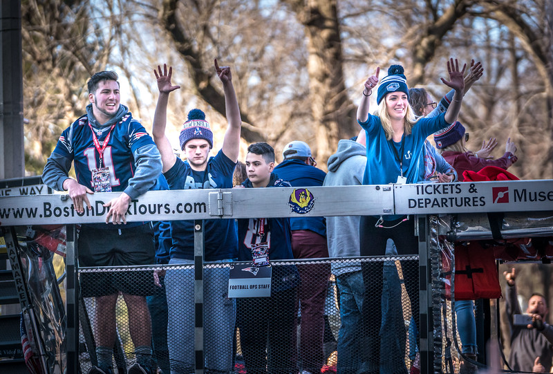 Six is the number at the Super Bowl Patriots Parade