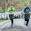 Max Ebert, left, and Jake Halloran picked up speed near the finish line to battle each other.