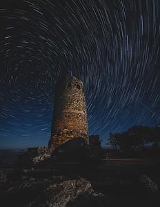 Desert Tower Star Trails