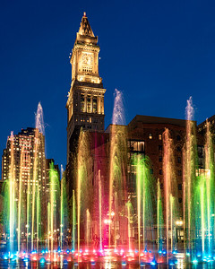 Greenway Lights and Fountain with Custom House