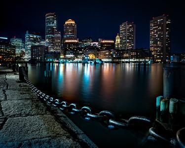 Classic Seaport Skyline View