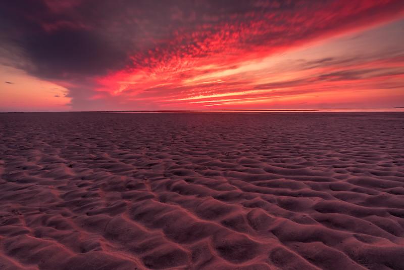 Sand patterns at Rock Harbor Beach - Cape Cod