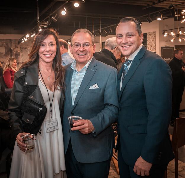 State Rep. Aaron MIchlewtiz (right) joins with Toni Gilardi and Richard Vita