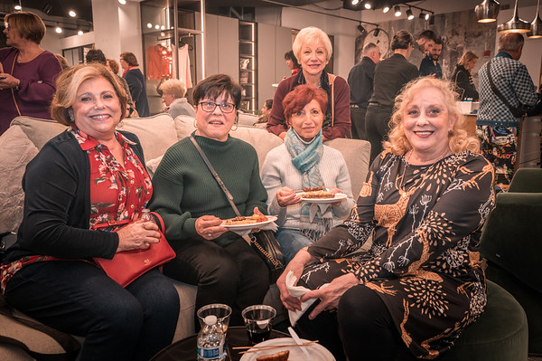 Ladies at the Toys for Tots fundraiser
