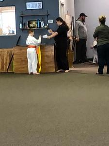 Cameron gets his orange belt