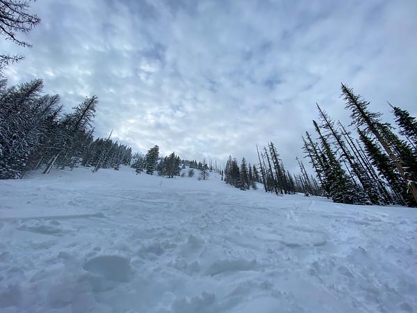 Open slope on the way up Diamond Head