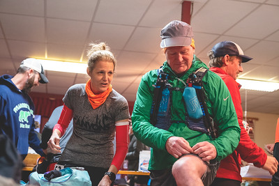 200 runners gathered at the Big Fork Community Center for the Athens Big Fork Marathon.  Runners would climb 8 mountains out and then back for 26.2 miles through the Ozarks or do a 17 mile fun run.  The climbs and decents were brutal and the water crossings plentiful.