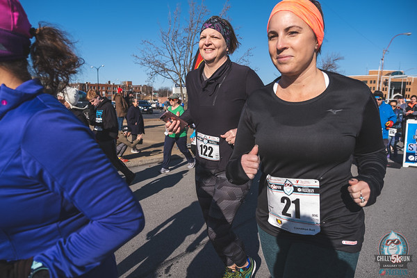 """January 1st, 2020 surprised runners with beautiful sunshine and 50 degree temps at the Joplin Chilly 5k presented by Freeman Health System.  The wind was brutal but """"yetis"""" can't be stopped running in the New Year."""