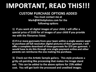2020 Emerald Personal Gallery Option