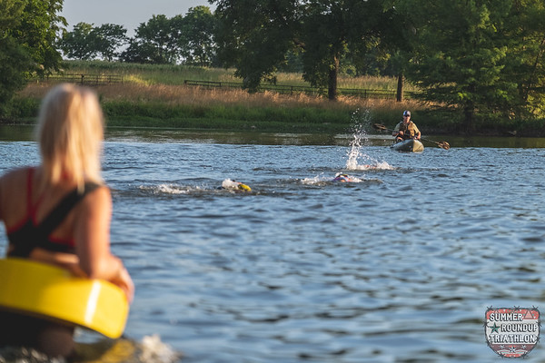 COVID has cause many races to be in jeopardy, but despite the pandemic, Summer Round Up still occurred on Sunday, to the delight of triathletes present. Athletes put forth their best efforts in the blazing heat to complete their event of either an Olympic, Sprint,, Super Sprint, Duathlon, or AquaBike with a rewarding finish through the event's traditional slip-n-slide.