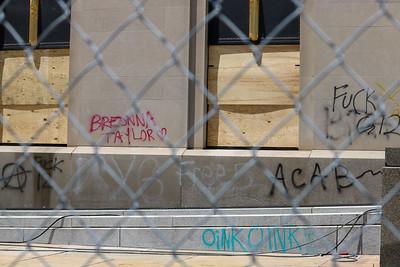 NBA--Courthouse vandalism