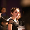 Julia Juron of Liberty was one of several soloists in the junior high mixed chorus.