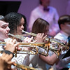 A round of trumpets was heard during the senior high band's rendition of Don Hanna.