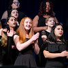 Angelina Kehrley, center, of Eldred, was one of just a handful of soloists in the junior high treble chorus.