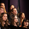 The junior high treble chorus kicked off the show with a series of four songs, directed by conductor Alexis Bresnahan and accompanied by Tri-Valley music teacher Keira Weyant.