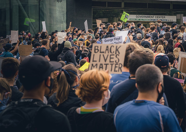 BLM protest at Government Center Plaza