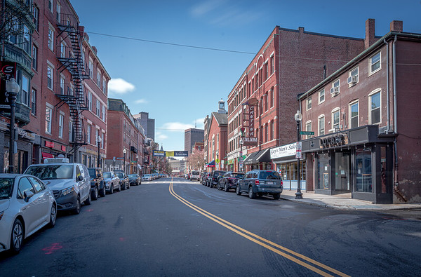 Hanover Street with no traffic