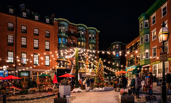 """North Square decorated for Disney's """"Godmothered"""" movie filming"""