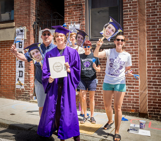 Boston Latin School Graduate Calvin Szulc with family