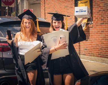 Stonehill College graduate Vitianna D'Amico (right) and Boston Latin Academy graduate Serina D'Amico