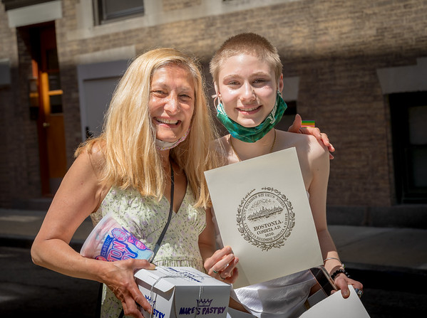Newton North High Graduate Sydney Russo with proud mother Sandy Russo