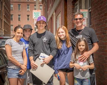 Boston Latin School Graduate Matthew Mendoza and family