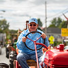 Jerry Davitt followed his son-in-law in the parade with this antique Farmall.