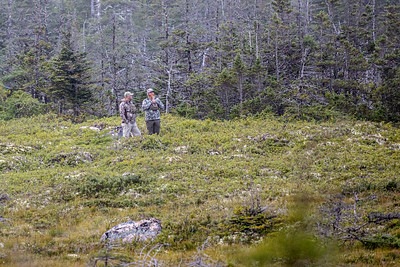Bow hunting for moose with Philip, Anthony Crocker and Sylvester Crocker