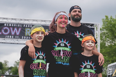 Glowing, runners brightened up the streets of Bentonville at Memorial Park on a humid Friday night for the annual Glow Run.