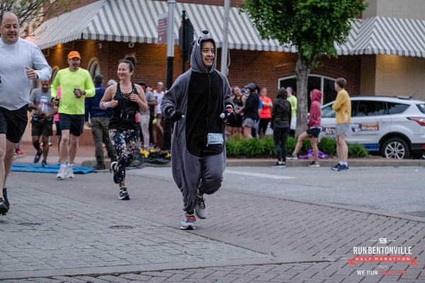 Members of the Bentonville Half Marathon Training Group got together to run their Bentonville Half on it's original date due to the COVID precaution push back to October.