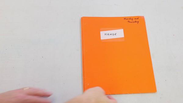 Elementary School Bag - Orange  Book