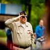 Art Flynn of VFW 5808 salutes his fallen comrades.