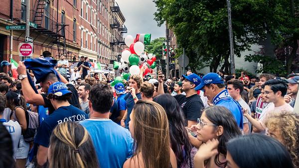 Italia revelers in Boston's North End