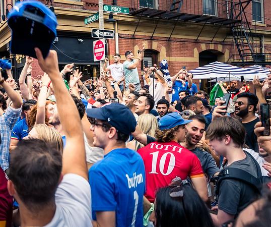 Hanover & Prince celebrations of Italia's EURO2020 championship win
