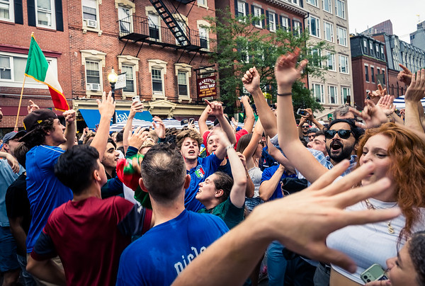 Crowds pour onto Hanover Street after Italy's EURO2020 win
