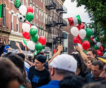 Red White and Green balloons celebrate Italy's win