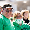 The streets were lined with residents wearing their green, like Kohlertown's Mike Schwartz.