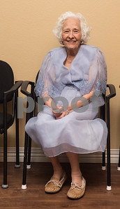 Patricia Hill attends the senior citizen's Valentine's Day prom held in the memory care unit at Prestige Estates Assisted Living and Memory Care in Tyler Tuesday Feb. 14, 2017. The event featured karaoke and snacks, and many residents wore formal dresses.  (Sarah A. Miller/Tyler Morning Telegraph)