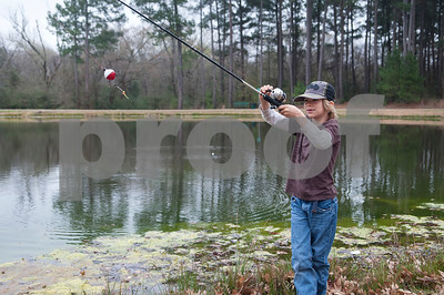 Benjamin Brown, 8, of Whitehouse fishes at Woldert Park Pond Saturday Feb. 20, 2016. The pond, next to the Glass Recreation Center at 501 W. 32nd Street, is part of the Texas Parks and Wildlife.Tyler Parks and Recreation held a family fishing event at Woldert Park Pond Saturday that included goodie bags for children, free bait and instructional opportunities. The pond, located next to the Glass Recreation Center, is part of the Texas Parks and Wildlife Neighborhood Fishin' program and is stocked every two weeks with fish.  (Sarah A. Miller/Tyler Morning Telegraph)