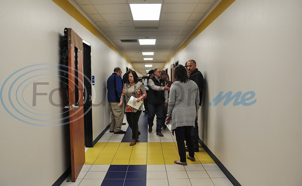 Guests fill the halls of the new CTE Building during it's Open House on Thursday, February 7. The Open House included a tour of the new facility, Ribbon Cutting and refreshments. (Jessica T. Payne/Tyler Morning Telegraph)