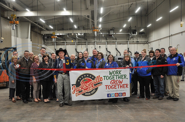 A Ribbon Cutting was held in the new building's warehouse on Thursday, February 7 for the Jacksonville High School CTE Open House. The new building also included classrooms for triage and media among others. (Jessica T. Payne/Tyler Morning Telegraph)