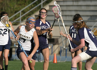 Marist School senior lacrosse midfielder Connor Sullivan scored two first-half goals as she helped lead her team to a 20-2 victory over Pace Academy, April 7.