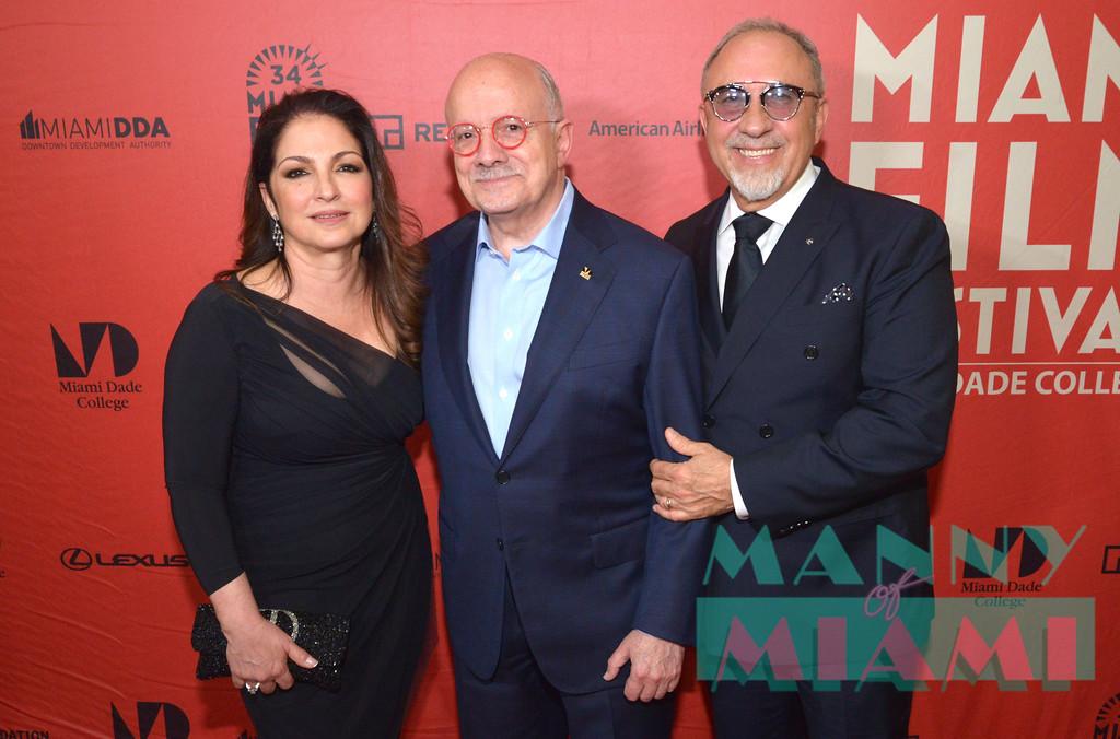 Gloria Estefan, Dr. Eduardo Padron, Emilio Estefan
