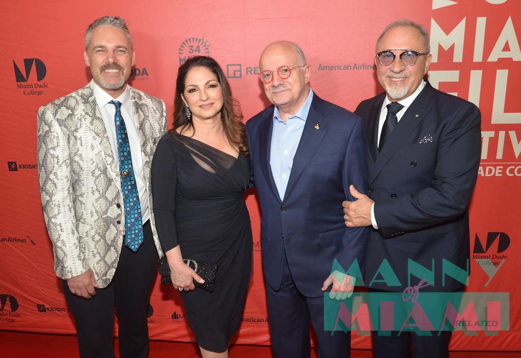 Jaie Laplante, Gloria Estefan, Dr. Eduardo Padron, Emilio Estefan