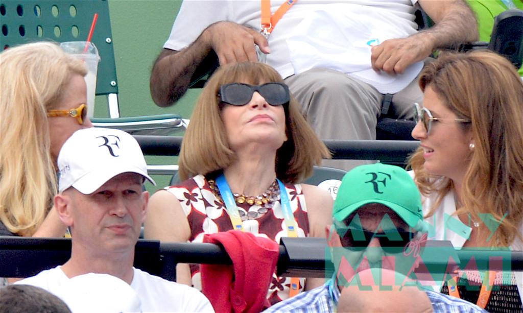 Blaine Trump, Anna Wintour, Mirka Federer