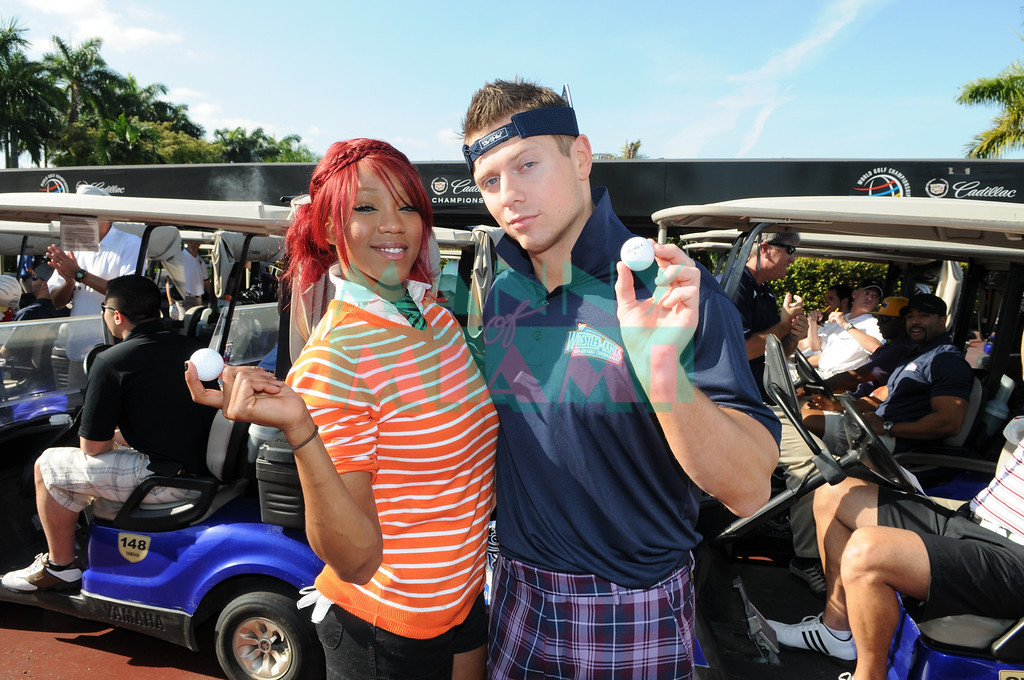 DORAL, FL--March 30, 2012--WWE stars come out to play golf at the Doral Golf resort and spa. (Photo by Manny Hernandez)